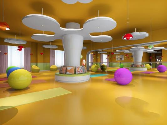 现代瑜伽室3D模型【ID:920606070】