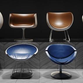 现代个性时尚单人座椅集合3D模型【ID:427939009】