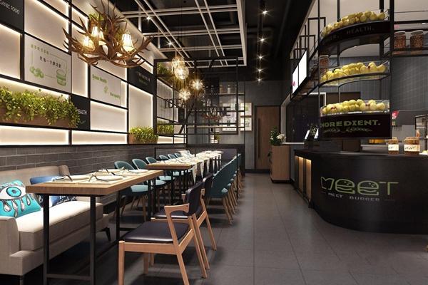 工業風餐廳3D模型【ID:728036681】