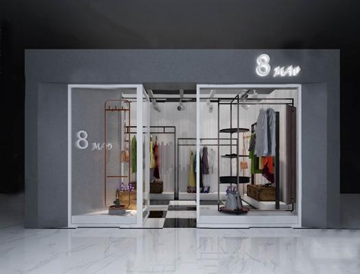 服装店3D模型【ID:124896337】