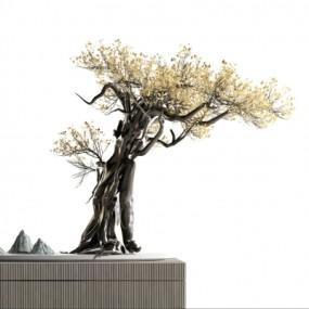 新中式松树摆件3D模型【ID:328441880】