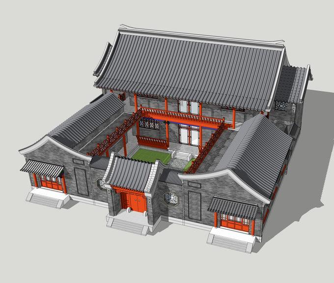 中式合园SU模型【ID:336390231】