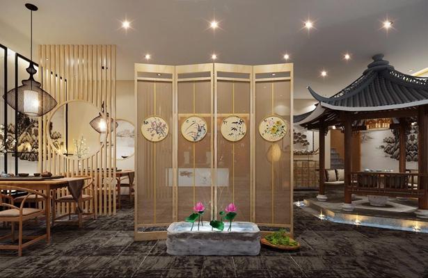 新中式茶樓3D模型【ID:428019108】