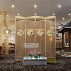 新中式茶楼3D模型【ID:428019108】
