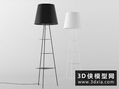 現代落地燈國外3D模型【ID:929599065】