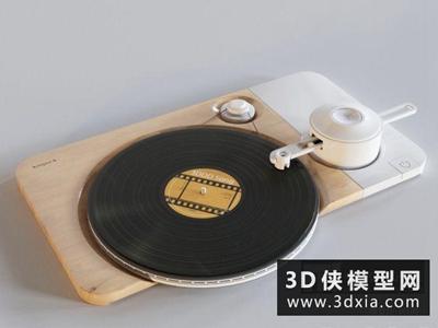 现代留声机国外3D模型【ID:229713076】