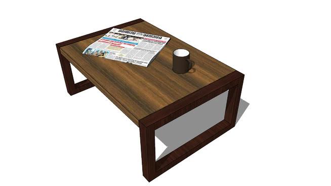 咖啡桌SU模型【ID:437991385】