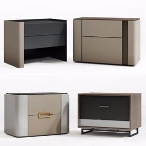 现代床头柜组合3D模型【ID:928328666】