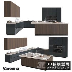 现代厨柜国外3D模型【ID:829307060】