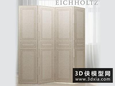 新古典屏風國外3D模型【ID:929732565】