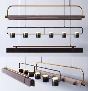 現代奢華吊燈組合3D模型【ID:732393807】