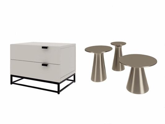 现代床头柜边几组合CSJ|AJ3D模型【ID:928195632】