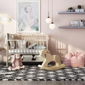 北欧婴儿房家具组合3D模型【ID:628294931】