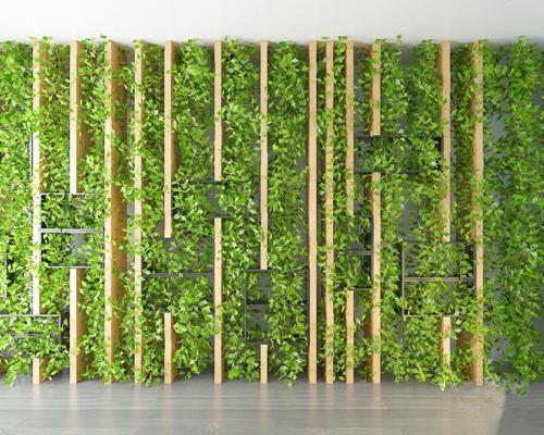 现代绿植墙3D模型【ID:626222597】