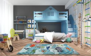 現代兒童房臥室3D模型【ID:127754200】