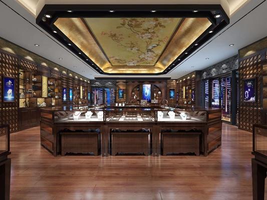 新中式珠宝店3D模型【ID:528049873】
