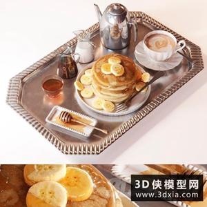 早餐食物模型國外3D模型【ID:929325520】