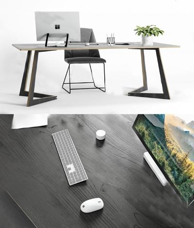 现代办公桌3D模型【ID:624888684】