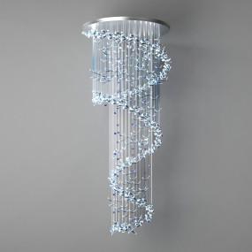 现代水晶吊灯3D模型【ID:527797847】