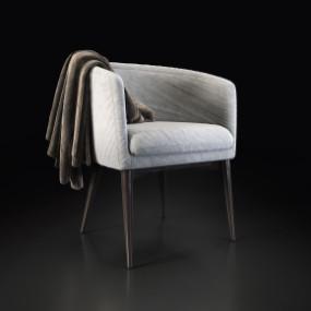 现代布艺单椅3D模型【ID:227779461】