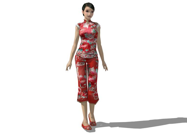 3D女人物SU模型【ID:136391777】
