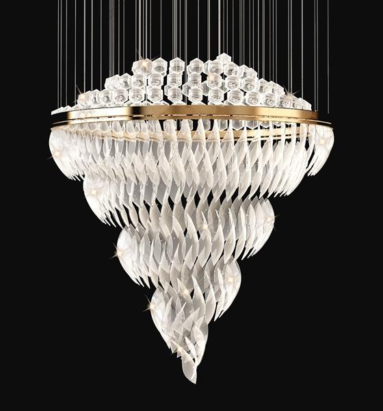现代水晶吊灯3D模型【ID:846260548】