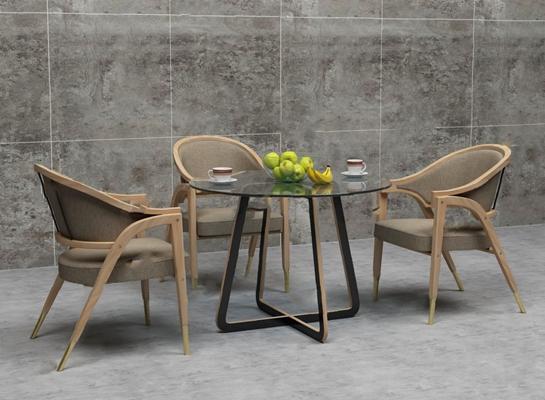 餐桌椅组合3D模型【ID:120018831】