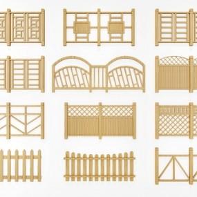 现代护栏围栏组合3D模型【ID:828474537】
