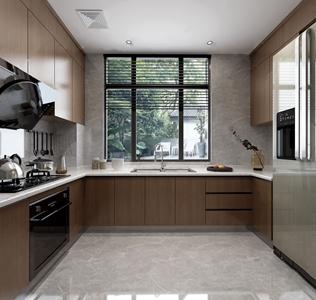 现代厨房3D模型【ID:534269358】