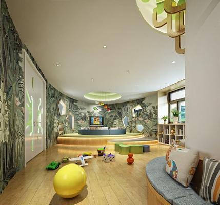 幼儿园图书室3D模型【ID:227871750】