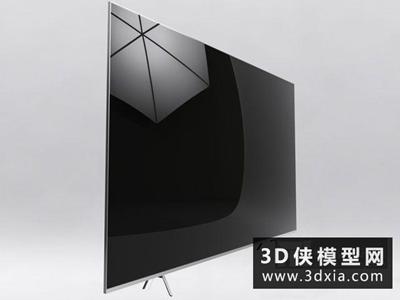 液晶电视机国外3D模型【ID:129360745】