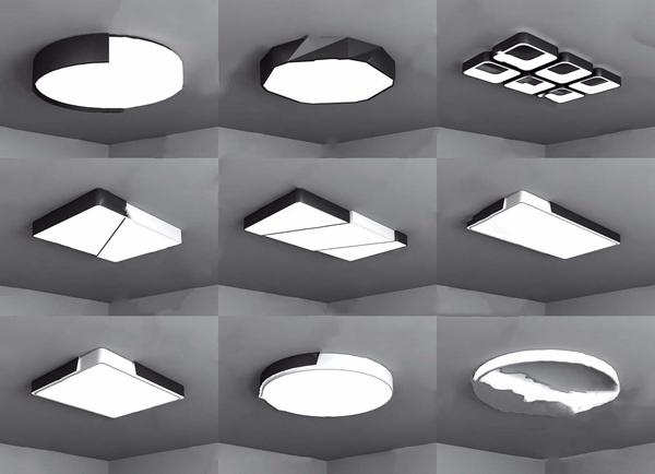 吸顶灯组合3D模型【ID:832393086】
