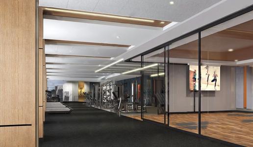 現代健身房3D模型【ID:420803605】