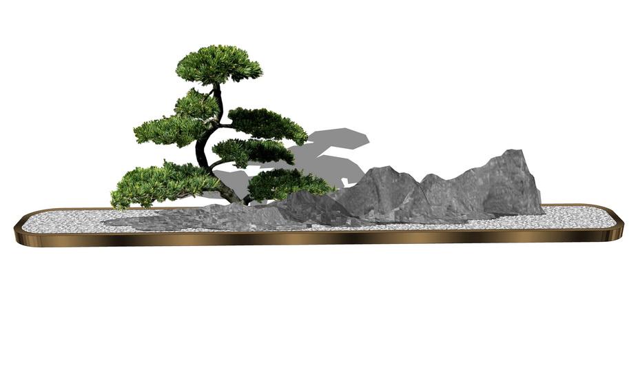 庭院盆栽SU模型【ID:236392185】