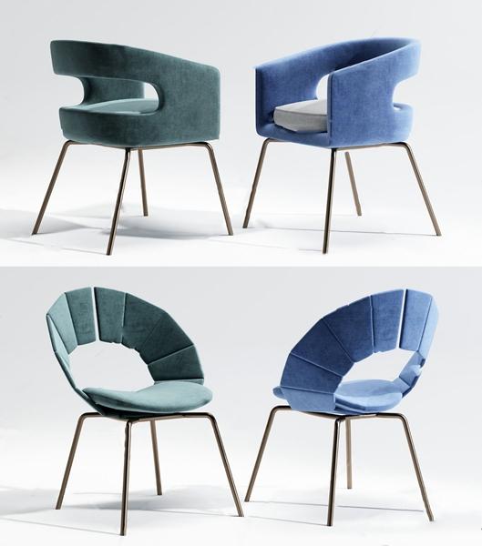 现代布艺餐椅单椅3d模型