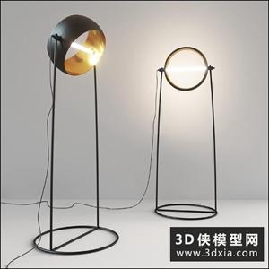 現代落地燈國外3D模型【ID:929338059】