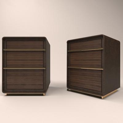 现代床头柜3D模型【ID:920616678】