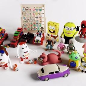 儿童玩具组合3D模型【ID:528010288】