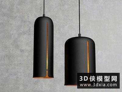 現代时尚吊燈国外3D模型【ID:829602752】
