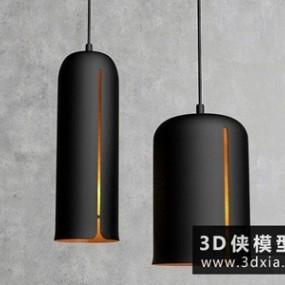 现代时尚吊灯国外3D模型【ID:829602752】