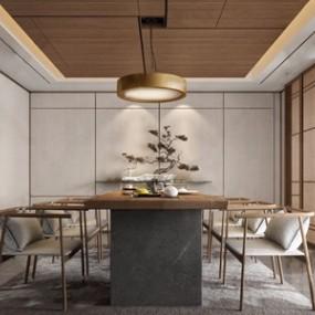 新中式茶室3D模型【ID:328254748】