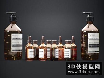 洗發水化妝品組合國外3D模型【ID:129585406】