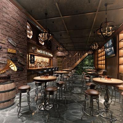 美式復古酒吧3D模型【ID:427985409】