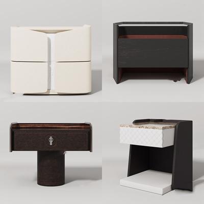 現代風格床頭柜3D模型【ID:928330696】