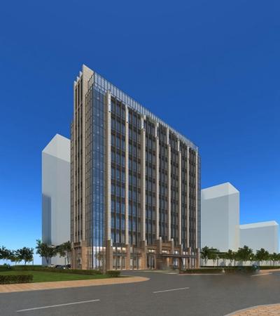 现代办公楼3D模型【ID:320602805】