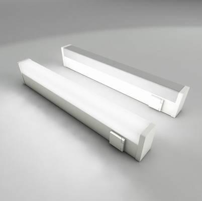 现代白色铁艺日光灯3D模型【ID:615023574】