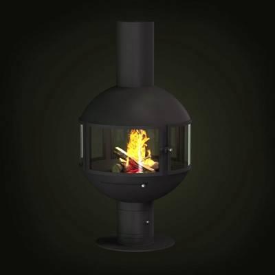 黑色铁艺壁炉3D模型【ID:615036731】
