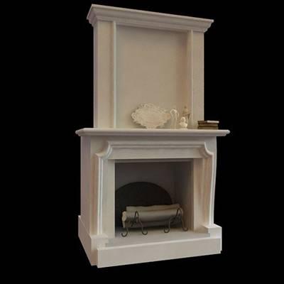 白色装饰柜壁炉3D模型【ID:615056846】