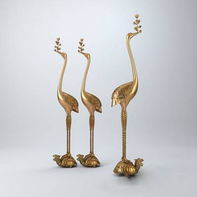 金色金属工艺品3D模型【ID:615196649】