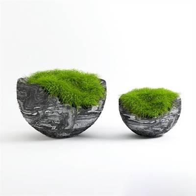 灰色陶艺花瓶3D模型【ID:615223860】